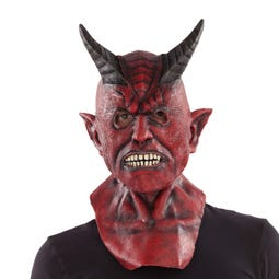 COMPLETE DEVIL LATEX MASK